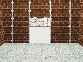 выровнять стены по маячкам при помощи штукатурки