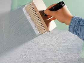 Грунтовка поверхности гипсокартонного листа