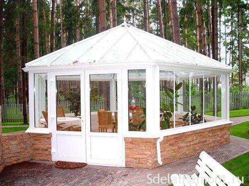 Gazebo of insulating glass