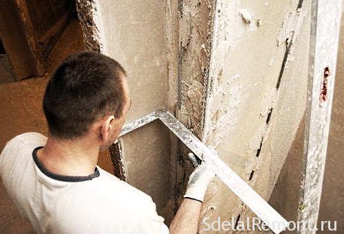 Выровнять углы стен