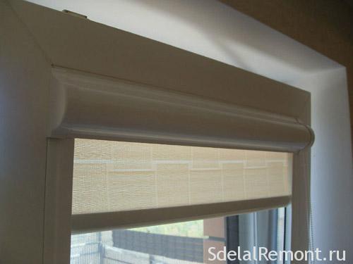 Касетні жалюзі на пластикові вікна