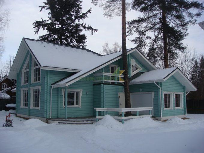 дом клеены брус