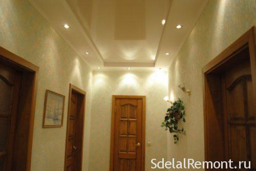фото красивых потолоков из гипсокартона прихожую 6
