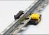 Plastic clip-fastening to plaster beacons