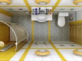 Вариант оформления узкой ванной комнаты