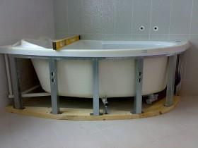 место под ванной