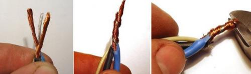 многожильная скрутка 3 проводов