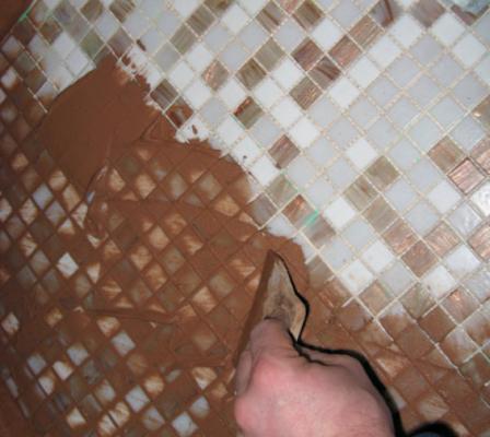 Mosaic tile grout