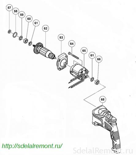 Схема сборки статора и ротора