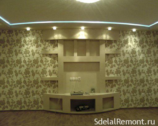 Дизайн гипсокартон стен