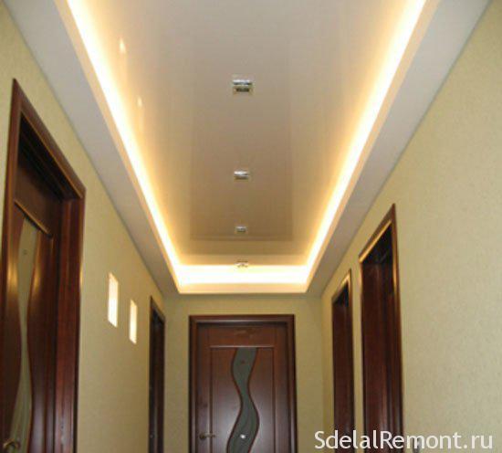 освещение  прихожей с натяжными потолками