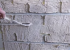 Application of the plaster Rotband to simulate brickwork