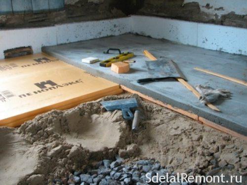 Піноплекс в підлогу під стяжку