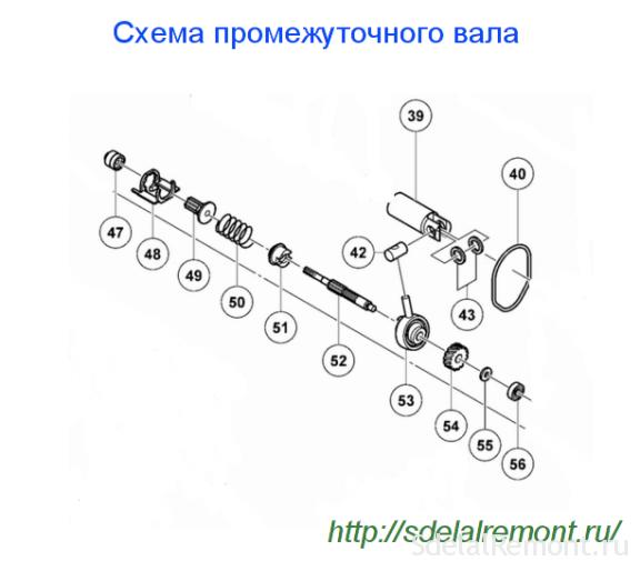 Схема проміжного вала