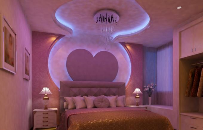 Романтический, переходящий на стену