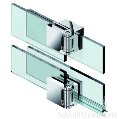 Петли для стеклянных дверей