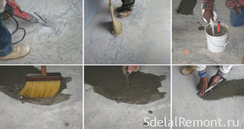 training under the floor screed
