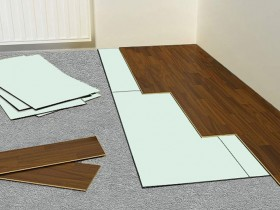 a pad under the laminate