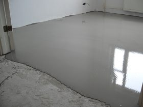 The drying up of self-leveling floor