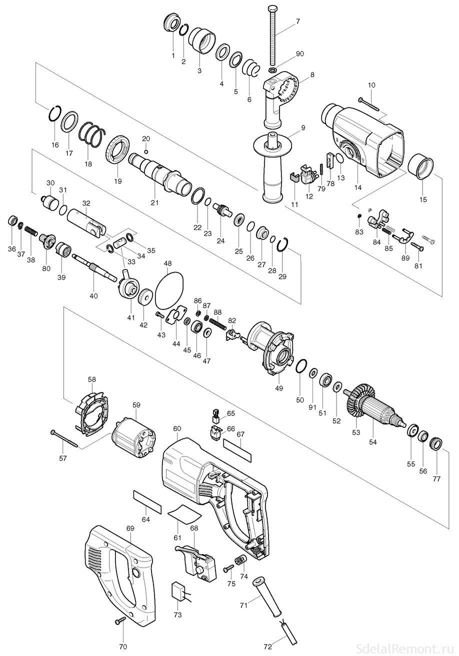 Схема разборки макита