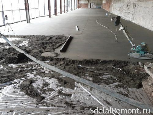 semi-dry-screed technology