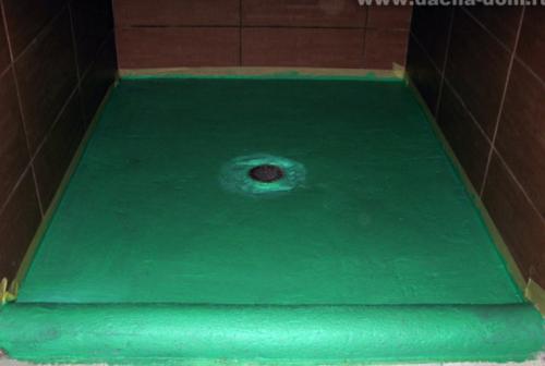 shower floor waterproofing