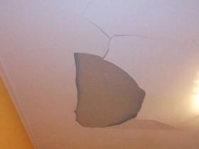 Не грунтованный потолок, последствия