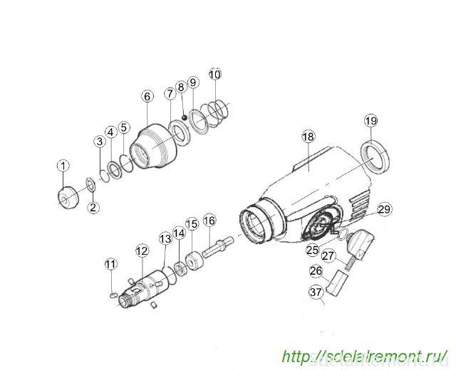 Интерскол 710 сборка редуктора схема инструкция