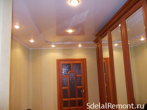 освещение пихожей с натяжными потолками
