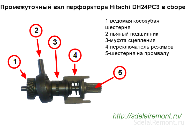 Перфоратор dh24pc3 ремонт своими руками