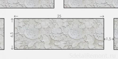 размер разметки стены