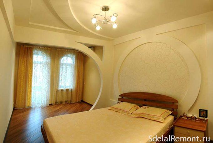 Расписной потолок с стеной