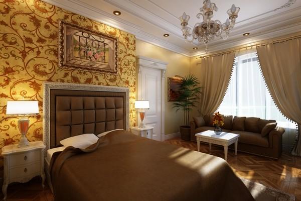 спальня шпалеры