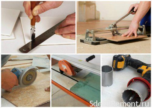 ways to cut ceramic tiles
