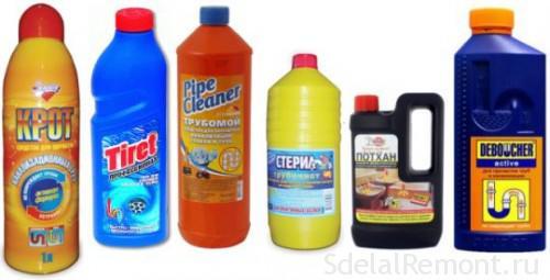Чем очистить слив в ванной