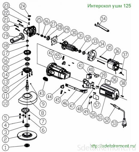схема интерскол ушм 125-900