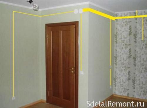 схема поиска скрытой проводки в квартире