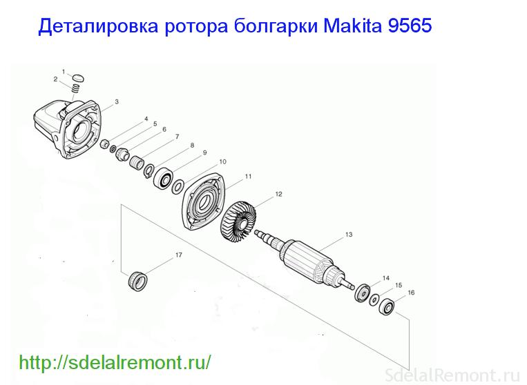 Редуктор болгарки схема