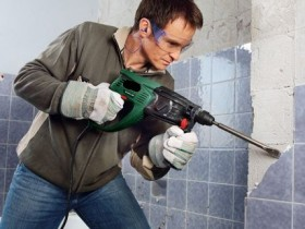 removing the old tiles