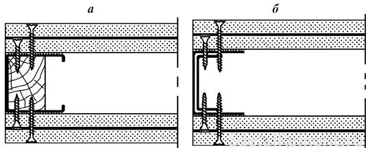 усилить каркас перегородки из гипсокартона