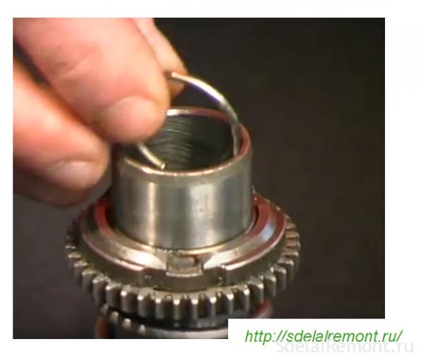 установка стопорного кольца в ствол