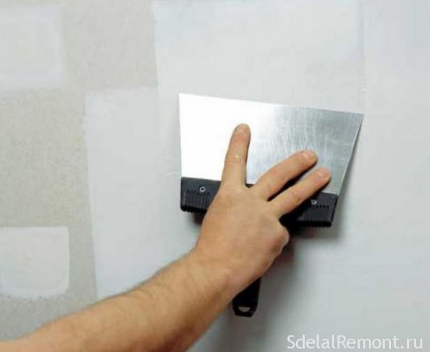 Как шпаклевать стены из гипсокартона под обои видео