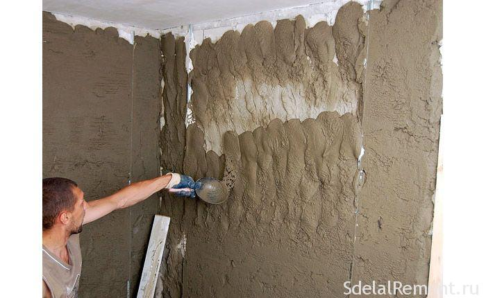 Как штукатурить стены под обои своими руками