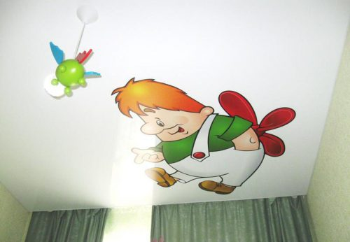 Потолок из гипсокартона для детской комнаты