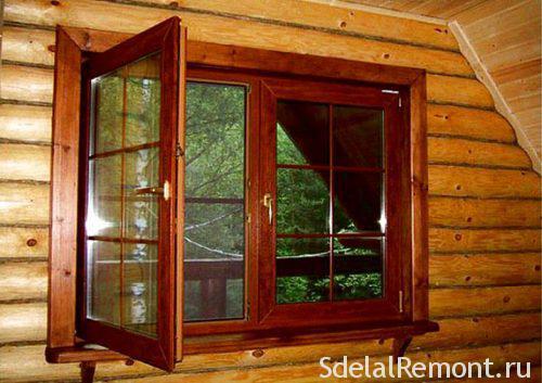 Деревянные окна со стеклопакетом для квартиры
