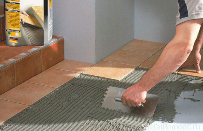 Толщина с клеем напольной плитки