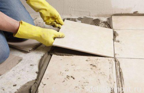 З чого почати укладання плитки