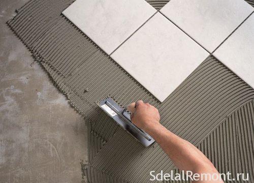 Укладка плитки на цементный раствор износостойкая акриловая краска для бетона мастер пол купить