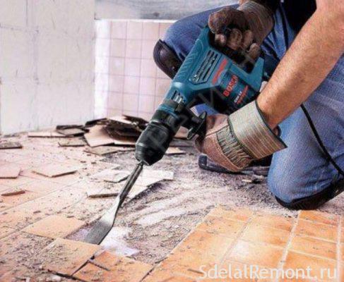 Підготовка підлоги у ванній під плитку