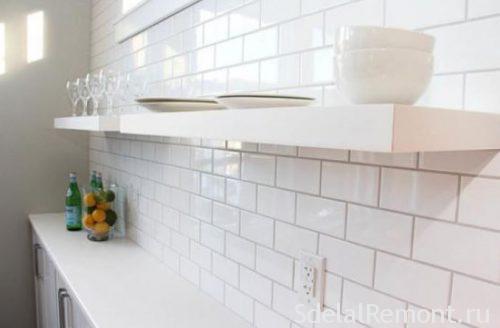 глянцевая плитка в кухне